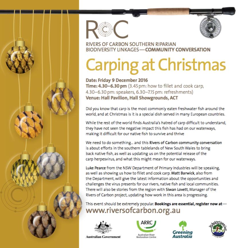 Carping at Christmas Flyer