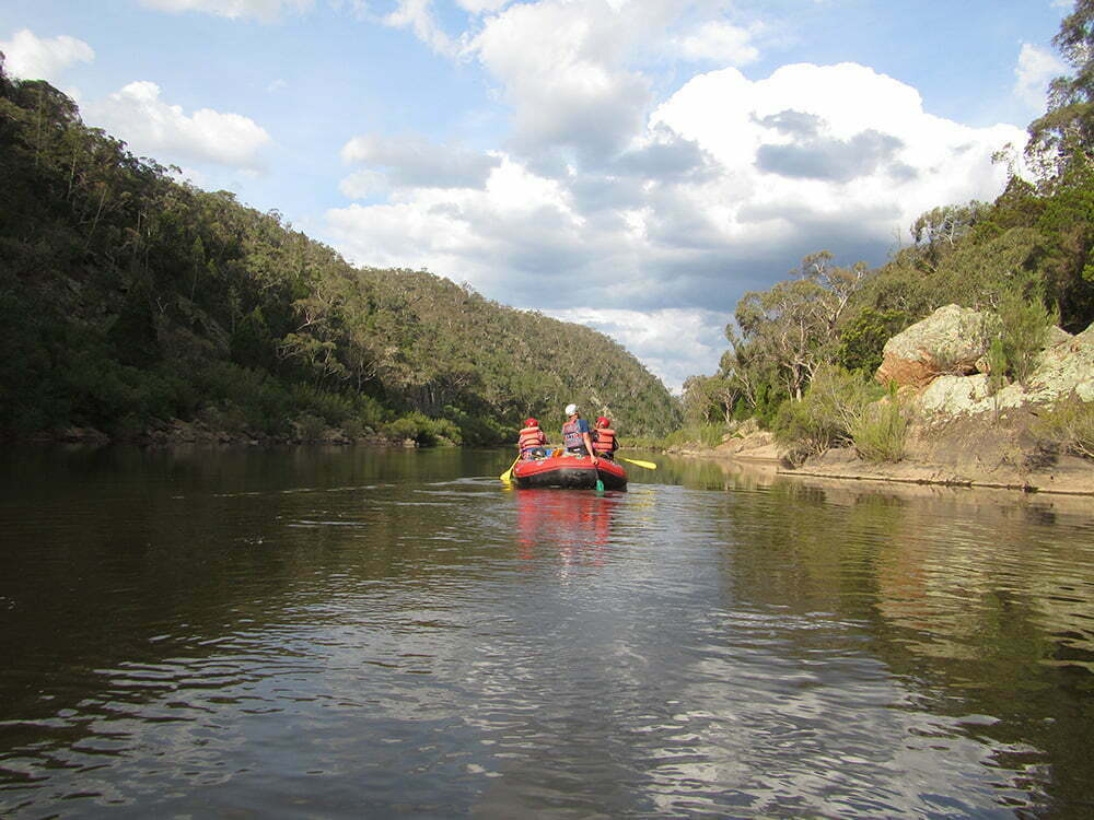 Paddling through Bredbo Gorge