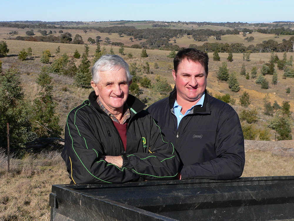 After the success of some of their Landcare efforts on their Crookwell property, Tom and James McCormack were keen to continue the rehabilitation work.